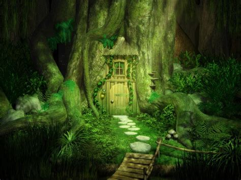 wallpapers fantasy wallpaper tree door
