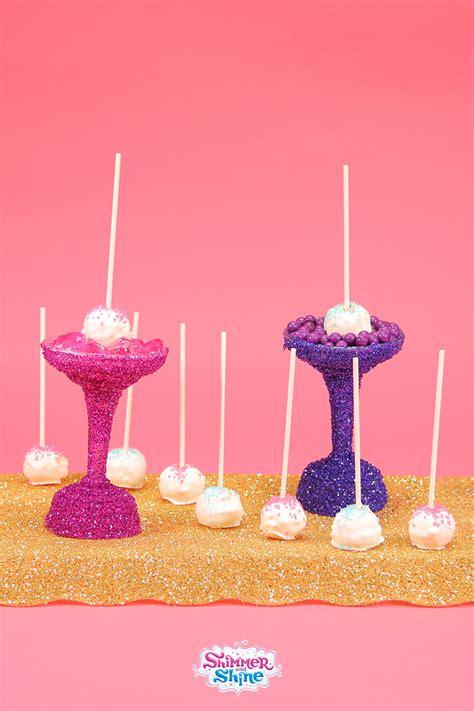 shimmer  shine sparkly sweet cake pops nickelodeon