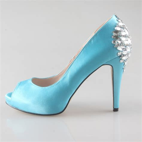light blue shoes heels creativesugar custom handmade light turquoise lake blue