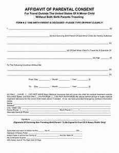 Parental consent form for child travel free download for Consent form template for children