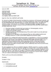 pharmaceutical cover letter