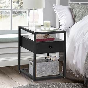 Vecelo, Square, End, Table, Nightstand, With, Drawer, And, Shelf, Side, Table, With, Storage, Accent, Table