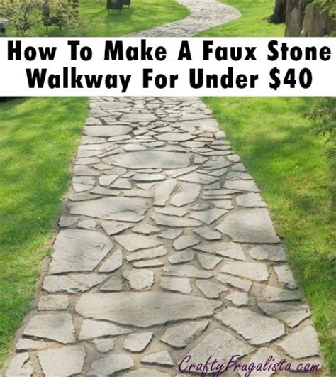 how to make a cheap garden path build a faux stone walkway for under 40 the crafty frugalista walkway pinterest decks