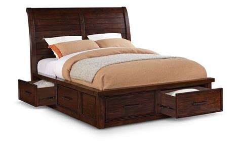 delray king sleigh bed  storage  awesome bedding