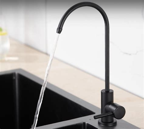 matte black drinking water filter tap  stainless steel ro faucet purify system reverse