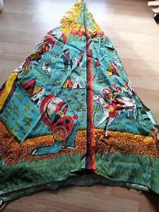 Zelt Der Indianer : ddr indianer wigwam tipi zelt aus stoff 70er jahre rarit t ~ Watch28wear.com Haus und Dekorationen