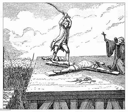 Death Penalty Tortures Illustration Antique 19th Century