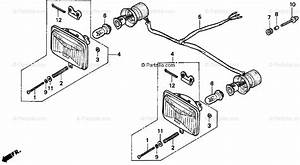 Honda Atv 1999 Oem Parts Diagram For Headlight