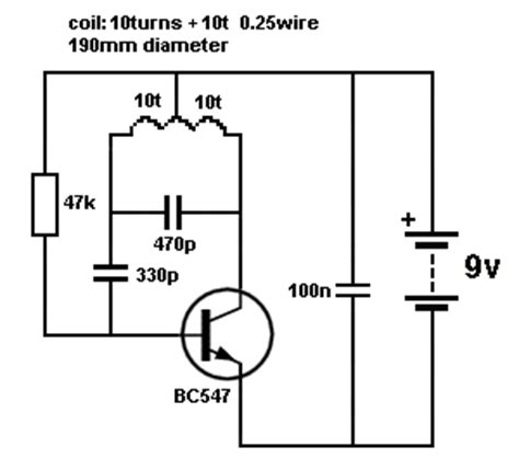 Circuit Diagram For Metal Detector Using Transistor
