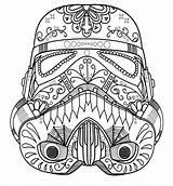 Coloring Pages Skull Sugar Sheets Vader Star Colouring Adult Dark Stormtrooper Trooper Wars Helmet Storm Mandala Skulls Printable Mask Dia sketch template