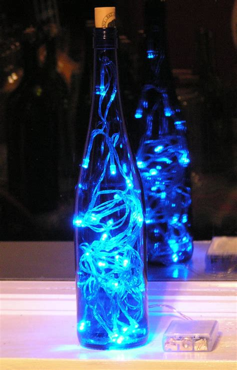 wine bottle led lights blue wine bottle light with blue led lights battery operated