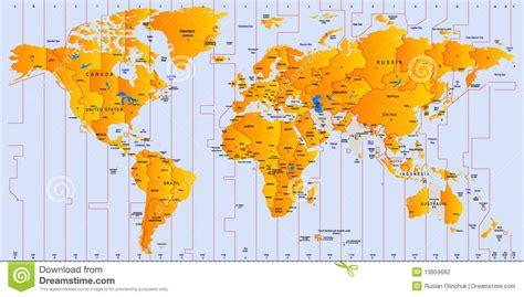 carte de fuseau horaire photographie stock image 13959682