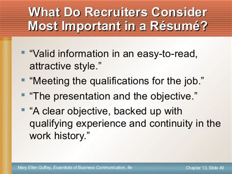 Important Information To Include On A Resume by Ch13 Instructor