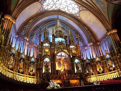 Dame Notre Cathedral Paris Interior Montreal Inside