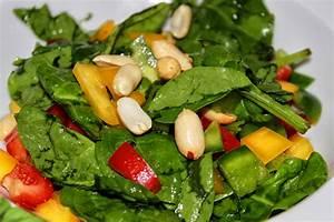 Salat Mit Spinat : blattspinat salat mit erdn ssen vegan glutenfrei veggiesearch ~ Orissabook.com Haus und Dekorationen