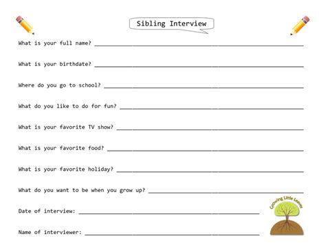 Immigration Form For Siblings by Growing Little Leaves Family History For Children