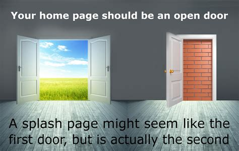 splash page design home page web design how to design your home page