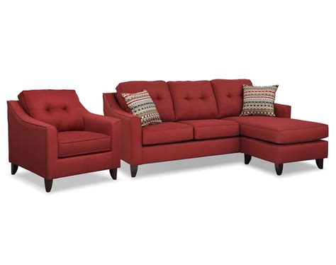 marco red sectional living room collection value city