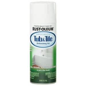 rust oleum specialty 12 oz white tub and tile refinishing