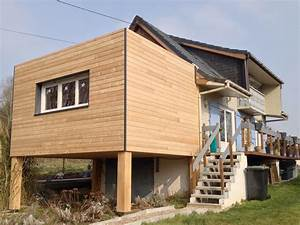 Agrandissement Maison : extension ossature bois sur pilotis plancher easi joist ~ Nature-et-papiers.com Idées de Décoration