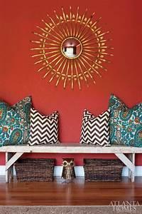 Orange and turquoise interior design panda s house