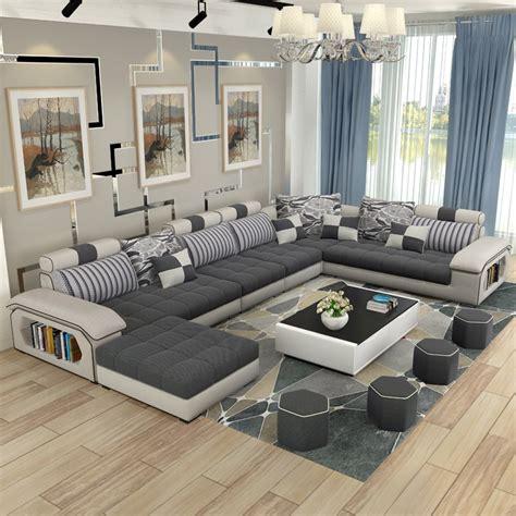 luxury living room furniture modern  shaped fabric corner
