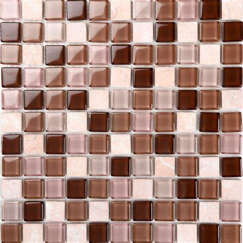 Stone And Glass Mosaic Tile Square Tiles Cheap Marble Tile