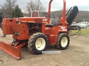 Ditch Witch 3700 Trencher 6 Way Dozer Blade Hydrostatic Hoe Loader Carbide