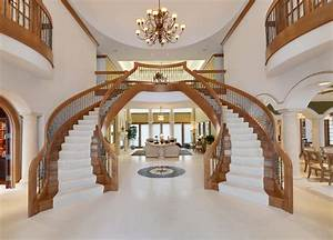 Dual Staircase in Grand Foyer | Luxury Homes | Pinterest ...