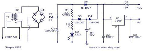 simple 12v ups circuit di 2019 naza layout