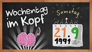 Geburtstag Berechnen Wochentag : wochentag f r jedes datum im kopf berechnen youtube ~ Themetempest.com Abrechnung
