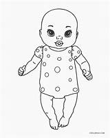Coloring Baby Pages Dolls Printable sketch template