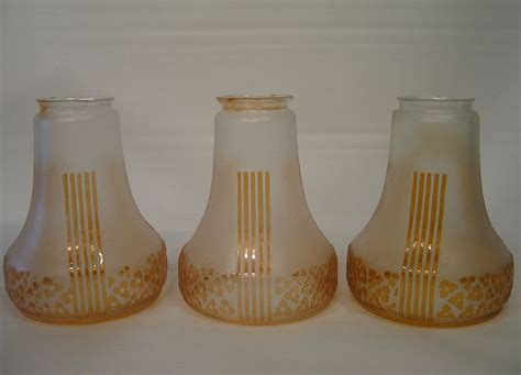 Lamp Shades Art Deco by Three Classical Art Deco Lamp Shades From Zinziantiques On