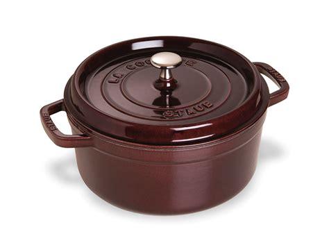 le creuset aubergine staub oven 4 quart aubergine cutlery and more 3690