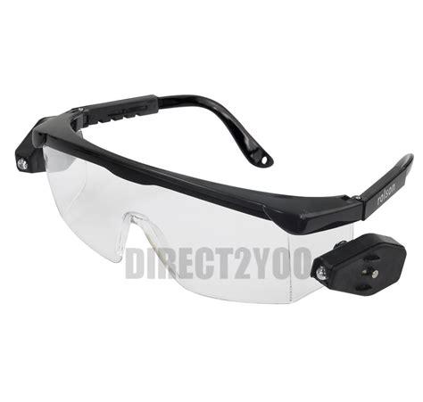 safety glasses with led lights safety glasses protective led rotating lights adjustable