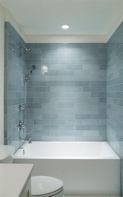 subway tile ideas for bathroom 17 best ideas about blue subway tile on blue