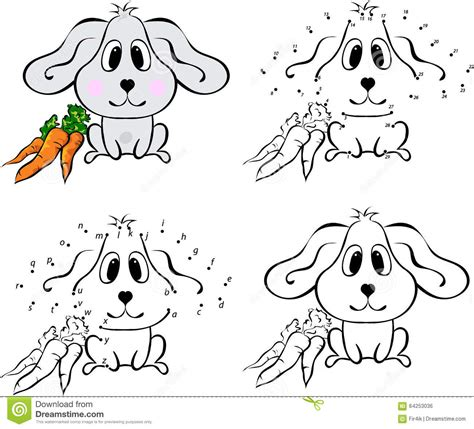 Coloring Carrot With Fresh Squeezed Juice Cartoon Vector