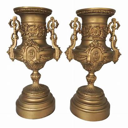 Neoclassical Chairish Urns Spelter Urn Ornate Italian