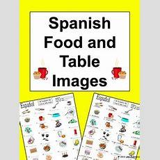 Spanish Food Vocabulary  Table Vocabulary Ids  La Comida Y La Mesa