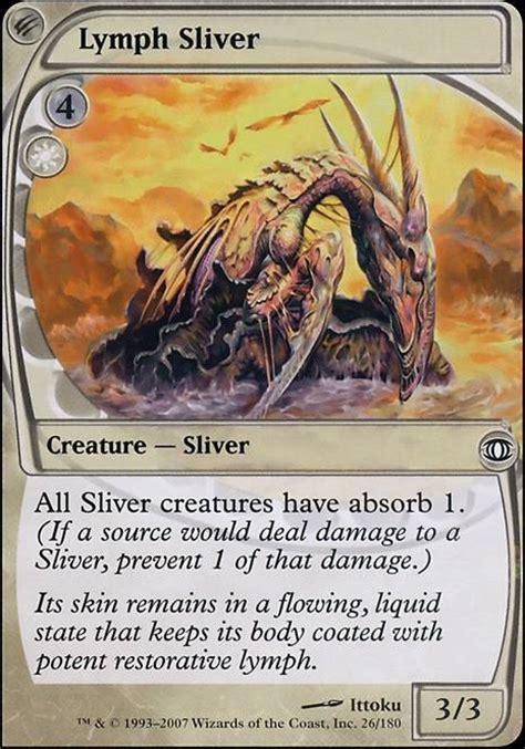 Sliver Deck Mtg Tappedout by Lymph Sliver Mtg Card