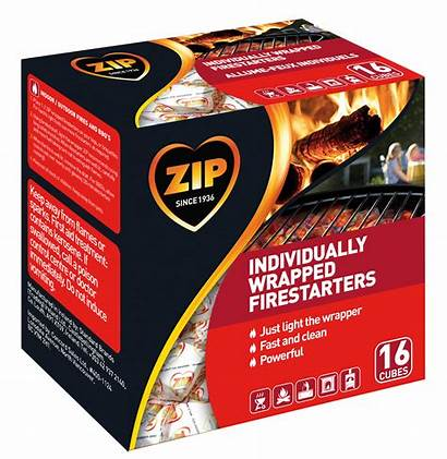 Zip Firestarters Wrapped Firestarter Individually Fire Pack