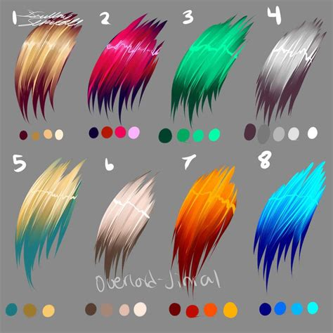 oooookay i made some color palettes for hair this time