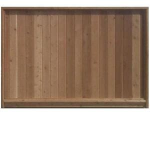 ft   ft cedar wood fence panel lowes canada