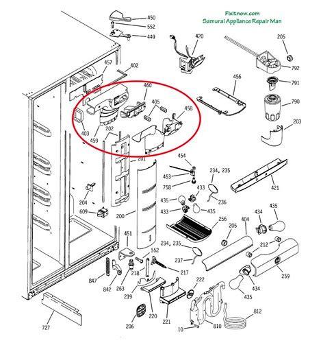 ge profile pss fridge breakdown diagram  damper asse flickr photo sharing