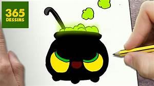 Dessin D Halloween Facile : comment dessiner chaudron kawaii tape par tape dessins ~ Dallasstarsshop.com Idées de Décoration
