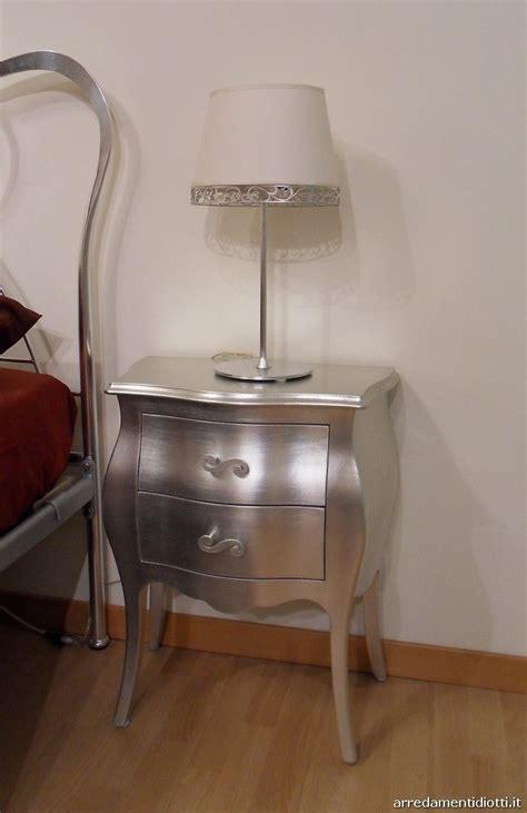 comodini argento comodini foglia argento offerta camere a prezzi scontati