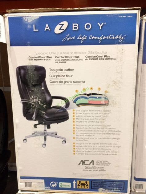 costco  la  boy leather executive office chair