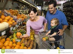 Family grocery shopping. stock image. Image of health ...
