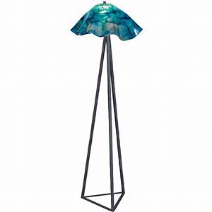 tripod floor lamp with glass shade wrought iron With tripod floor lamp with glass shade