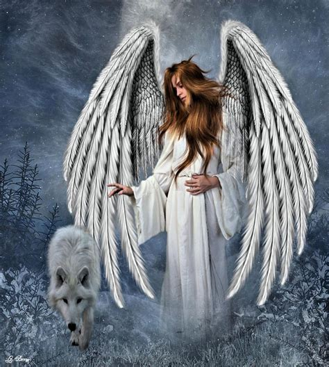 White Wolf Angel Photograph by G Berry